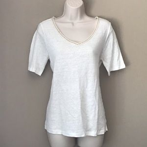 Cynthia Rowley linen v neck top